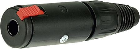 Neutrik NJ3FC6-BAG 1/4in TRS Black Cable Jack