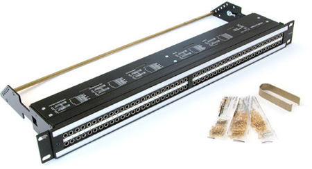 Neutrik NPPA-TT-SD25 2X48 Bantam TT Patch Bay Half-Normalled - 12x25 Pole D-Sub
