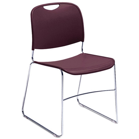 National Public Seating 8500 Series Hi Tech Compact Stack Chair Black