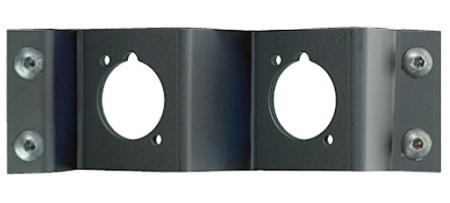 Neutrik NZPFD-2 Z-Panel Frame Plate 2 D-Size Knockouts - No Connectors