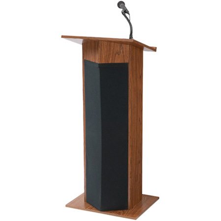 Oklahoma Sound 111PLS 30W Powered Floor Lectern Mahogany