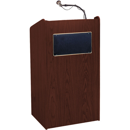 Aristocrat Floor Sound Lectern - Medium Oak