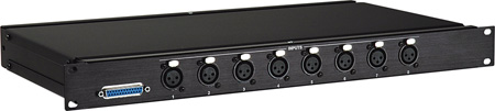 Analog Audio Output Break Out Panel - Tascam Standard to 8 XLR Male