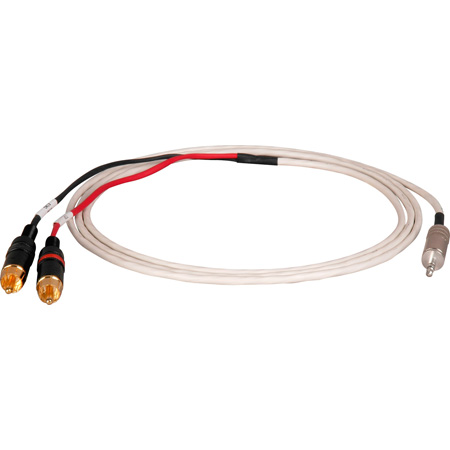 TecNec Plenum 3.5mm Stereo Mini Plug to Dual RCA Audio Cable 25 Foot