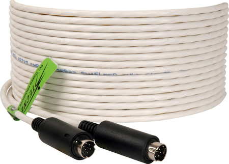 Plenum Visca Camera Control Cable 8-Pin Male to 8-Pin  Male 25 Foot