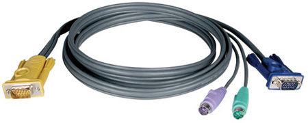 Tripp-Lite P774-010 PS/2 Cable Kit for B020 and B022 Series KVM Switches 10Ft