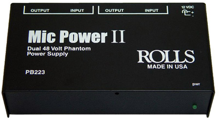 Rolls PB223 Dual Phantom Power Adapter