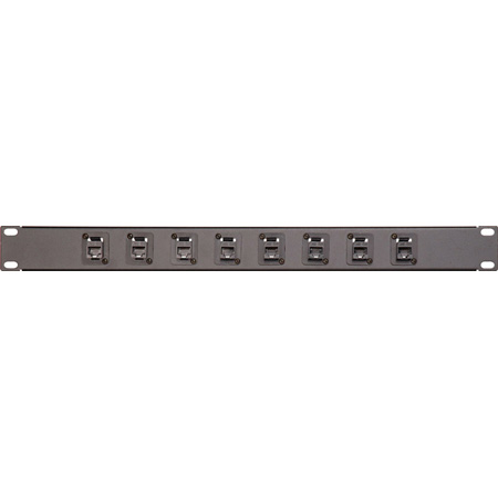 16-Point RJ45 Feed Thru Patch Panel 2RU