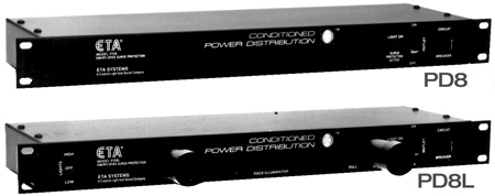 Rackmount AC Power Distributor with 8 U-grounded AC Outlets