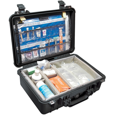 Pelican 1500EMS Case - Case with EMS Organizer and Dividers (Orange)