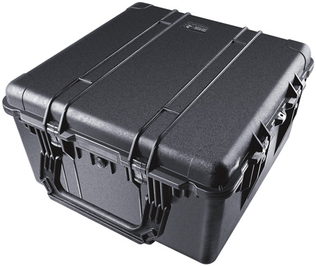 Pelican 1644 Transport Case (1640 Case with Padded Dividers) - Black