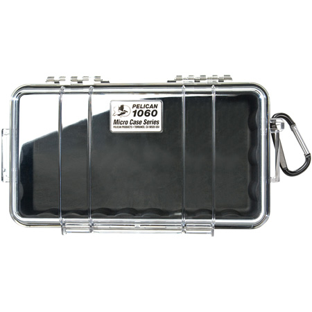 Pelican 1060 Micro Case Clear with Red Liner