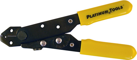 Platinum Tools 15001C V-Notch Adjustable 10-24 AWG Wire Stripper and Cutter