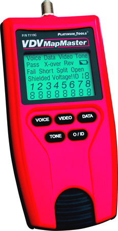 Platinum Tools VDV MapMaster Cable Tester/Mapper