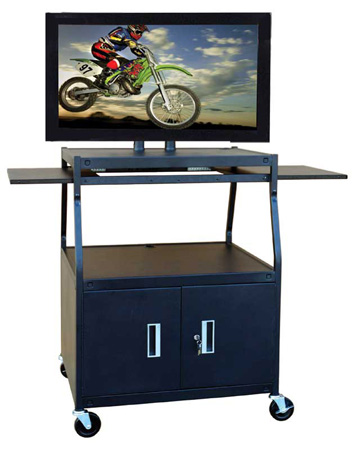 Buhl PLCAB44E Wide Body Flat Panel TV Cart w/Locking Cabinet