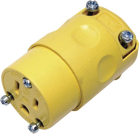 Leviton 515CV Commercial Grade 15 Amp 5-15R 125V 3-Prong AC Receptacle Yellow