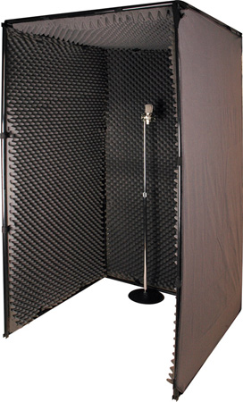 42 x 42 x 78h inch sound voice over booth