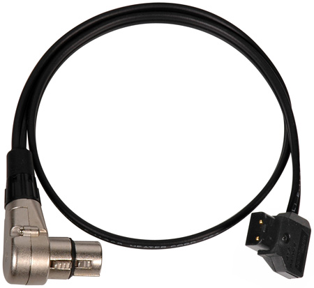 Anton Bauer PowerTap (P-Tap) to Right Anlge 4-Pin XLR Female Power Cable 36 Inch