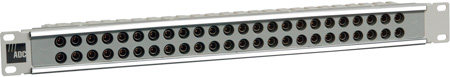 1RU 2x24 Standard Size HD Normalled Video Jackfield Non-Terminating - Gray