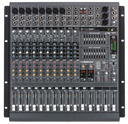 Mackie PPM1012 12-Channel 1600W Powered Desktop Mixer