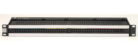 ADC-Commscope PPP1248-E3-NS-S 1RU 2x48 Bantam Audio Patchbay Normals Strapped w/EDAC 3-Pin