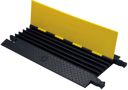 Yellow Jacket YJ5-125-B/B Heavy Duty 1.25in Slot 5 Channel Cable Protector- 3ft Black/Black