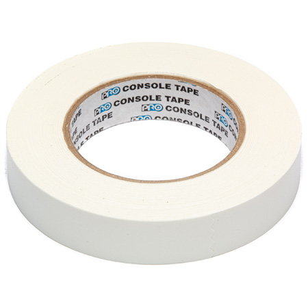 White Removable Console Tape 1/2in