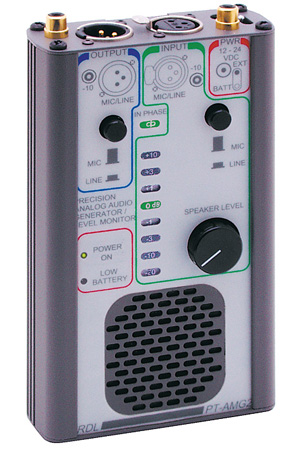 RDL PT-AMG2 Portable Audio Signal Generator & Monitor
