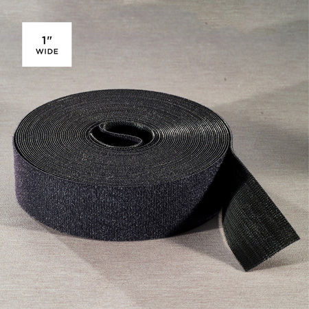 Rip-Tie Q-75-HRL-BK WrapStrap Plus 1 Inch x 75 Ft.