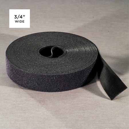 Rip-Tie Q-75-MRL-BK WrapStrap Plus 3/4 Inch x 75 Ft. Black