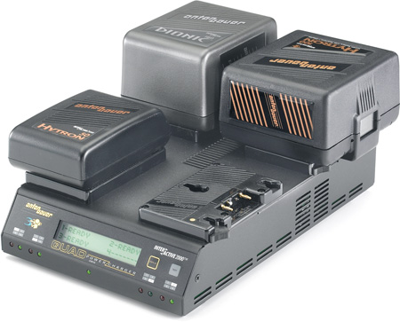 Anton Bauer QUAD 2702 Sequential Four Position PowerCharger with LCD