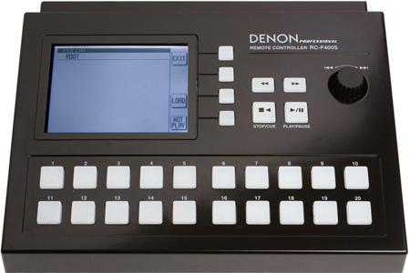 Denon RC-F400S Remote Controller For DN-F400 Solid State Audio Player