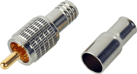 Heavy Duty 75 Ohm RCA Video Crimp Style Connector