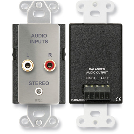 Radio Design Labs DS-CIJ3D Consumer Input Jacks - Stereo - Stainless Steel
