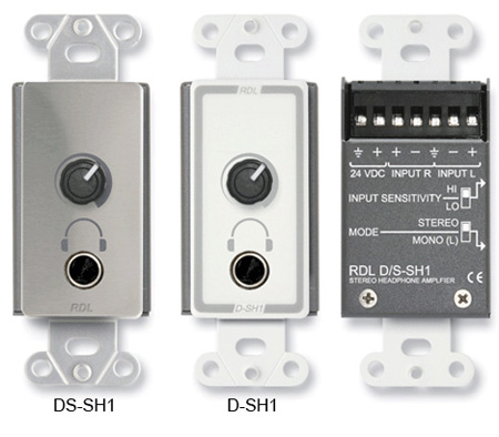 RDL DS-SH1 Stereo Headphone Amp - Decora Panel w/User Level Control