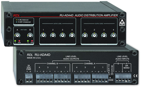 Radio Design Labs RU-ADA4D 4 Channel Stereo Audio Distribution Amplifier