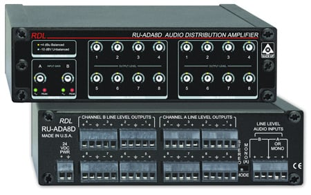 Radio Design Labs RU-ADA8D 8 Channel Stereo Audio Distribution Amplifier