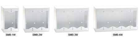 RDL SMB-2G 2-Gang Surface Mount Box for Decora Remote Controls and Panels Gray