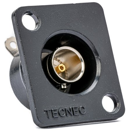 TecNec Recessed Panel Mount BNC Female to Solder Point 75Ohm White
