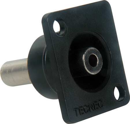 Tecnec RE-MFSBL Recessed Mini Female Stereo Feed-Thru Chassis Mount