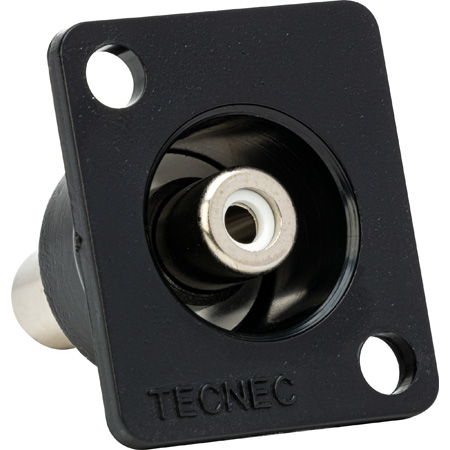 Tecnec Recessed Panel Mount RCA Barrel Female to Female Green