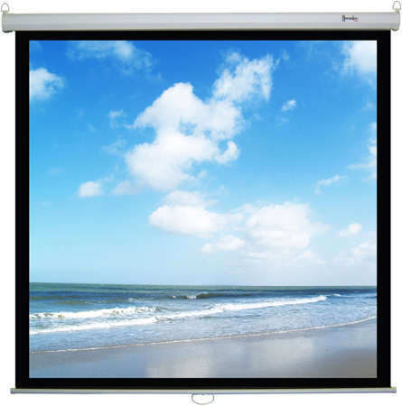 Recordex 103120 120 Inch 4:3 ReTract Manual Screen 72 x 96 w/3 Year Warranty