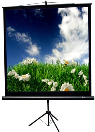 Recordex 501084 84 Inch 1:1 TriMaxx Advanced Tripod Screen 60x60 Inch
