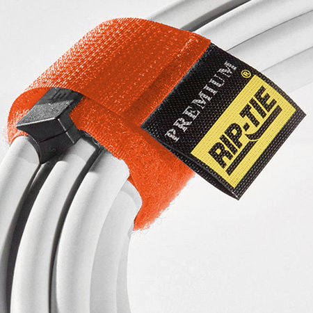 Rip-Tie HB-21-010 1x21 Inch CableWrap with Buckle 10-Pack Orange