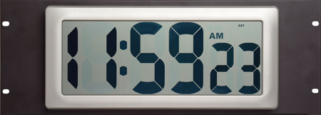 Rackmount Extra Large Digital LCD Studio Clock 4RU
