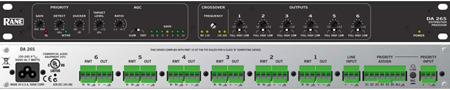 Rane DA26S Paging Distribution Amplifier