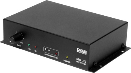 Rane MS 1S Mic Stage Preamplifier With Single Mic Input