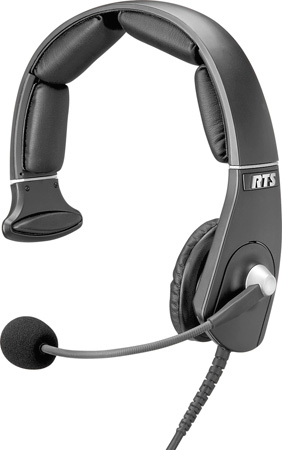 RTS MH-300 Single-Sided Lightweight Headset with A5F 5-Pin XLR Female Connector