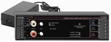Radio Design RU-PA40D 40W Stereo Audio PowerA w/VCA & Power Supply