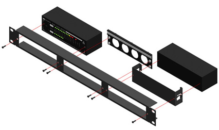 RDL RU-RA3 19in Rack Mount for 3 Rack-Up Series Products